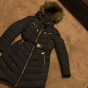 Navy Blue Michael Kors winter coat